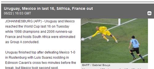 法新社:苏亚雷斯建功 乌拉圭队头名跻身16强