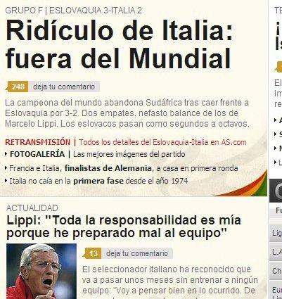 里皮赛前讽刺遭报复 意大利出局引西媒体欢呼