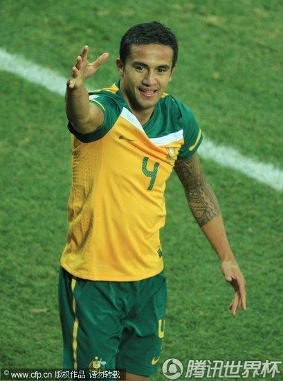 图文:澳大利亚2-1塞尔维亚 卡希尔进球庆祝