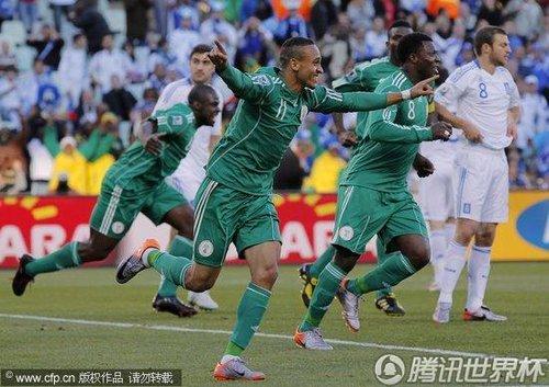 2010世界杯小组赛B组次轮:尼日利亚Vs希腊