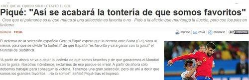 皮克的言论让西班牙媒体很恼火