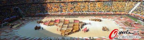 图文:南非世界杯开幕式 非洲巨型地图亮相