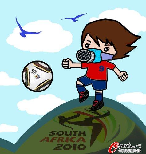 漫画:世界杯球队备战南非高原问题各有妙招