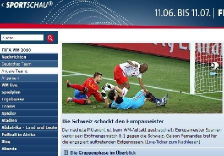 体育观察:西班牙意外落败 瑞士胜在战术得当