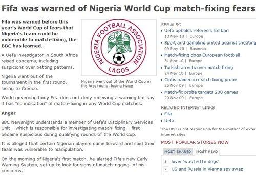 BBC揭世界杯造假球队 韩国晋级或因对手赌球