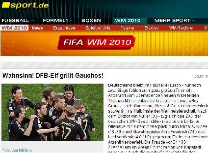 德国体育:德国队进攻华丽 4球痛宰宿敌进4强