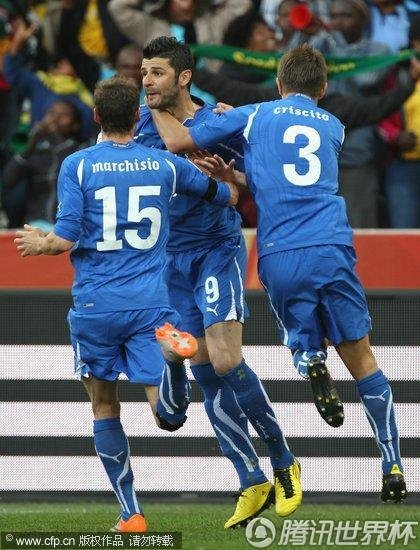 2010世界杯小组赛F组次轮:意大利Vs新西兰