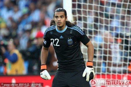 图文:阿根廷1-0尼日利亚 阿根廷门将罗梅罗_B