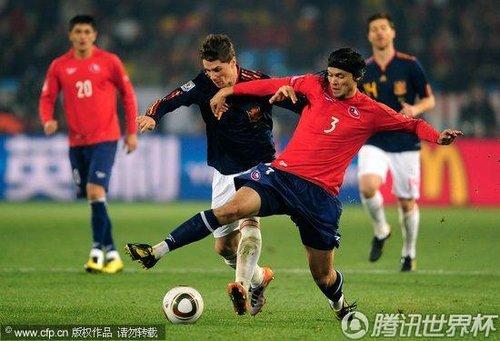 2010世界杯H组末轮:西班牙Vs智利