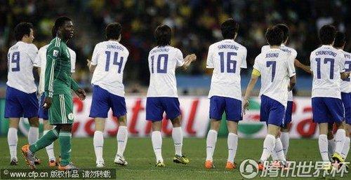 图文:尼日利亚VS韩国 韩国反超比分_2010南非