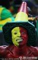 图文:加纳0-1德国 加纳球迷呐喊助威