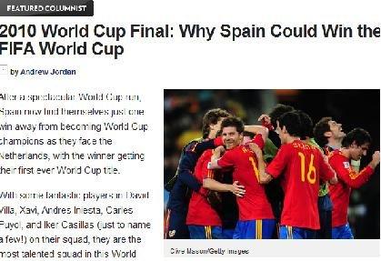 美媒7理由力挺西班牙夺冠:冠军就是他们的命