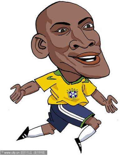 漫画:世界杯球星脸谱 麦孔