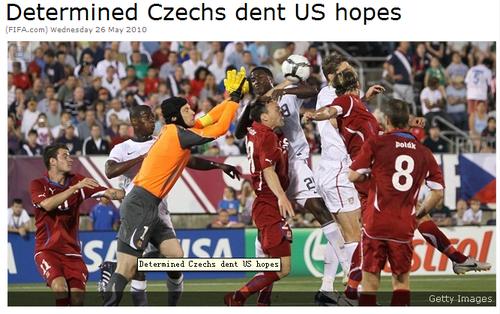 国际足联:捷克4-2力克美国 小组出线梦破碎