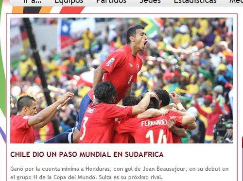 智利足协:首战全取3分 智利迈出世界性一步