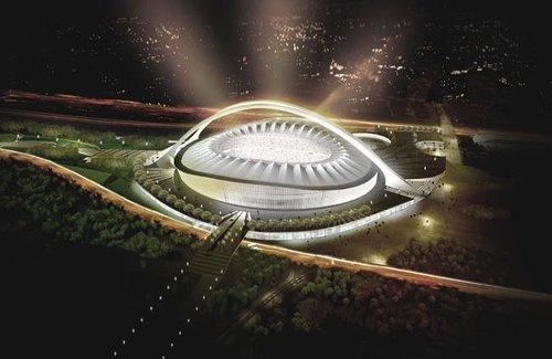 访南非足球重镇开普敦 中国工人建设绿点球场
