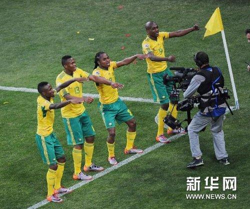南非世界杯揭幕战:南非队1:1墨西哥队战平