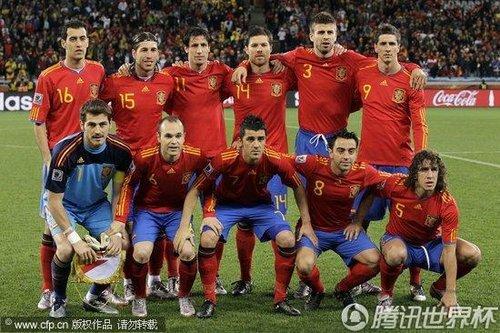 图文:西班牙VS葡萄牙 西班牙首发阵容_2010南