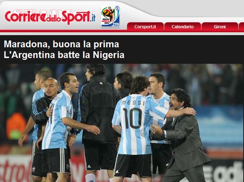 罗马体育报:两因素拖住阿根廷 米利托被埋没