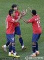 智利球员庆祝胜利