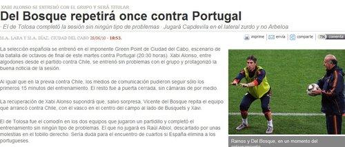 西媒预测西班牙首发 皇马铁腰回归配巴萨双核