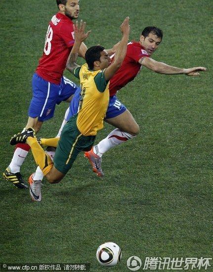 2010世界杯:澳大利亚vs塞尔维亚球迷