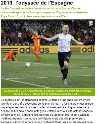 队报:荷兰人第三次倒在决赛场 英雄伊涅斯塔