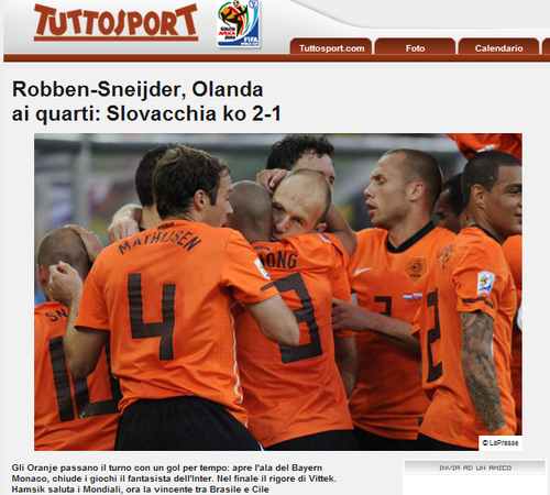 都灵体育报:个体与整体完美统一 荷兰很可怕