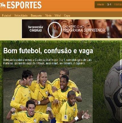 巴西众媒体:卡卡还须冷静 裁判拙劣引发混乱