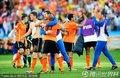 荷兰球员鼓掌庆祝