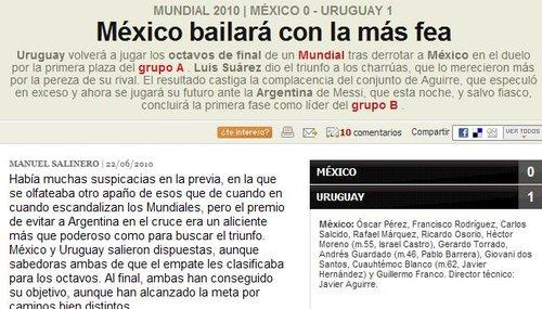 阿斯报:墨西哥输球出线 恐遇阿根廷前途黯淡