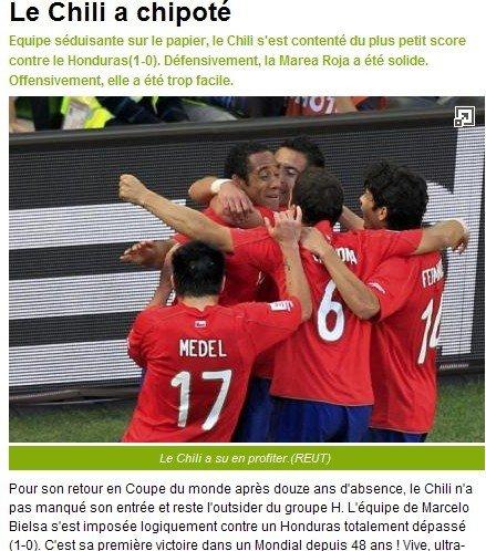 队报:智利队迎来48年首胜 优势明显进球太少