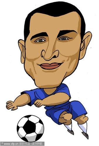 漫画:世界杯球星脸谱 卡纳瓦罗