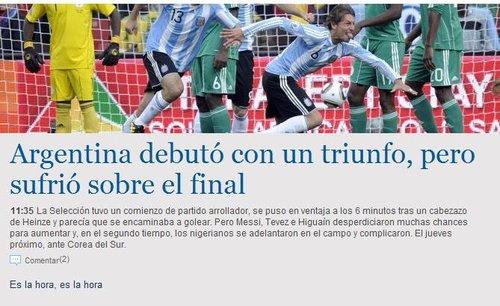阿媒Razon:压倒性开局 但阿根廷却赢得不易