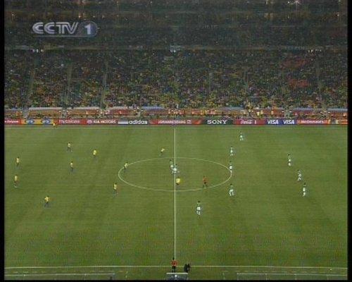 图文:巴西VS科特迪瓦 比赛正式开始