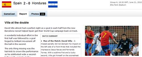 espn:西班牙队回归热门 比利亚成罚失第一人