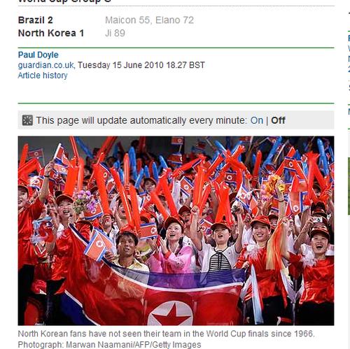 卫报:这才是真正的世界杯 朝鲜1球赢得掌声