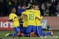 图文:巴西3-0智利 巴西队员庆祝