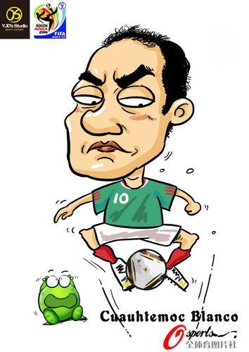 漫画:2010年世界杯球星——布兰科