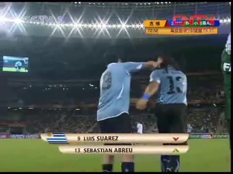 视频:乌拉圭再做调整 阿布雷乌换下苏亚雷斯
