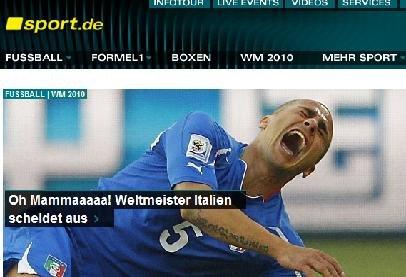 德国体育:意队垫底史上最差 糟糕防守酿杯具