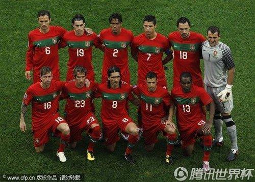 图文:朝鲜Vs葡萄牙 葡萄牙球队合影_世界杯图