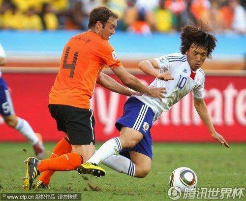 2010世界杯E组次轮:荷兰1-0日本