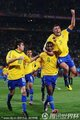 巴西队员庆祝