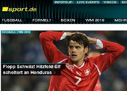 德国体育:瑞士末战闷平出局 淘汰因锋线疲软