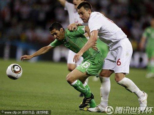 2010世界杯小组赛C组次轮:英格兰0-0阿尔及利亚