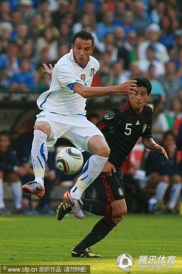 2010世界杯热身赛:墨西哥2-1意大利 或扮南非最大黑马
