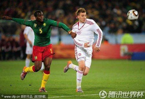 2010世界杯小组赛E组次轮:喀麦隆Vs丹麦