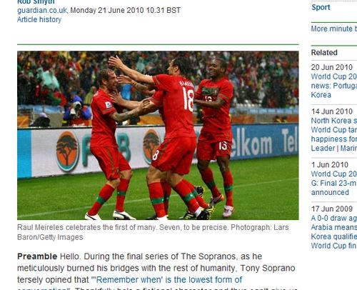 卫报:难以预料的比赛 葡萄牙在积累净胜球?
