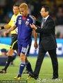 图文:巴拉圭5-3日本 冈田武史教导本田圭佑